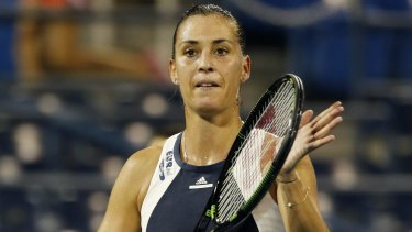 Thought it was a bomb: Flavia Pennetta.