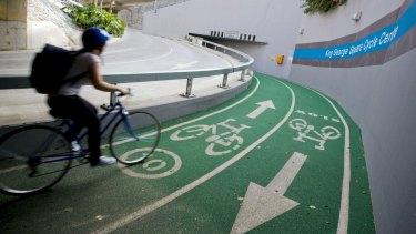 Cycling in Brisbane.