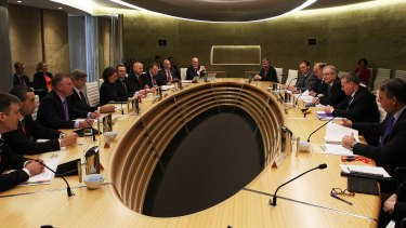 Scott Morrison and state treasurers meeting in Sydney in December.