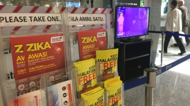Authorities across Asia are on Zika alert. These Zika advisory pamphlets are available at Kuala Lumpur International Airport.