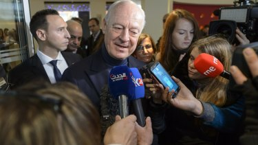 """Staffan de Mistura, UN Special Envoy for Syria, says the Geneva talks are """"a historic"""" chance to end the country's civil war."""