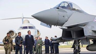 British Prime Minister David Cameron during a visit to Royal Air Force station RAF Northolt last week.