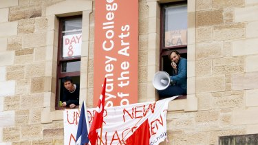 Students occupied the Sydney College of Arts last year to protest plans to shut down its Rozelle campus.