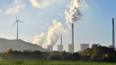 A coal-burning power plant steams in Gelsenkirchen, Germany while the 23rd UN Conference of the Parties (COP) climate talks end in Bonn, Germany.