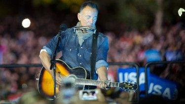Singer Bruce Springsteen accused Donald Trump of putting himself above American democracy.
