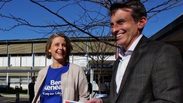 Botany mayor Ben Keneally with wife Kristina.
