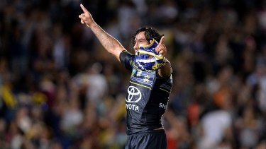 Magic man: Johnathan Thurston's brilliance in extra time helped the Cowboys to victory.