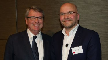 Conservative strategists Lynton Crosby and Mark Textor.