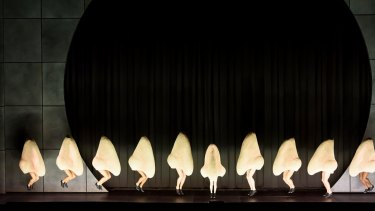 Tap dancing noses in Barrie Kosky's production of Shostakovich's opera The Nose, which debuted at the Royal Opera House in London.