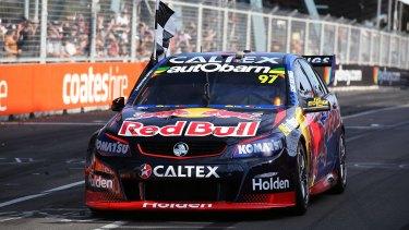 Leading the way: Shane Van Gisbergen wins the Sydney 500.