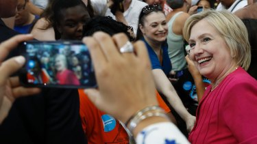 Clinton's carefully controlled public image has not helped her build trust.