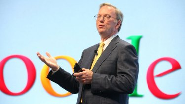 Google Chairman Eric Schmidt is in Davos for the World Economic Forum along with other tech tycoons.