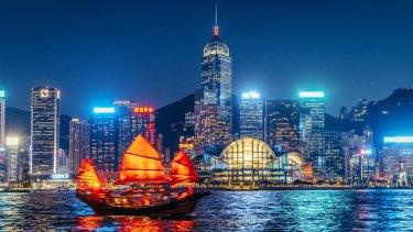 Asian trading hub Hong Kong.