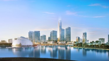 The consortium's plans include 50-level skyscrapers.