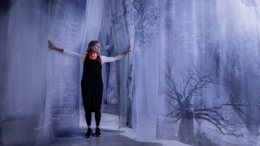 Janet Laurence in part of her new installation, Theatre of Trees.