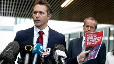Labor MP Jason Clare and Opposition Leader Bill Shorten