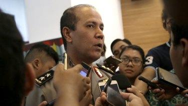 Indonesian police spokesman Major-General Boy Rafli Amar addresses the media in Jakarta in July, after wanted Islamist militant Santoso was shot dead in Sulawesi.