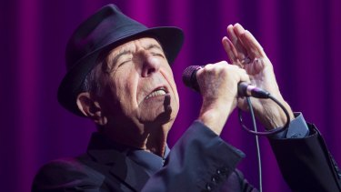 Leonard Cohen during his 2013 Australian tour.