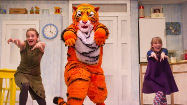 Roaring fun: A stage performance of Judith Kerr's children's classic, <i>The Tiger Who Came to Tea</i>.