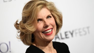 When she laughs, it's head thrown back: Christine Baranski arrives at the 32nd Annual Paleyfest in 2015.