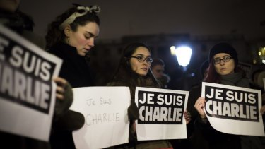 I am Charlie: People show solidarity with the victims of the terrorist attack.