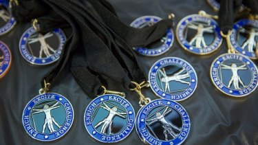 Taking home the medals in the da Vinci Decathlon.