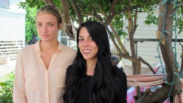 Courtney Wilson, left, and Taylor Guerrero, who claim they were discriminated against because of their sexuality.