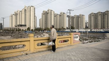 Residential buildings in the Jiading district of Shanghai, China.