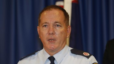 The new NSW Police Commissioner Mick Fuller at NSW Parliament House on Thursday.