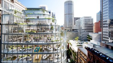 Charter Hall's property at 333 George Street in Sydney is under construction.