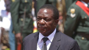 New leader: Emmerson Mnangagwa.