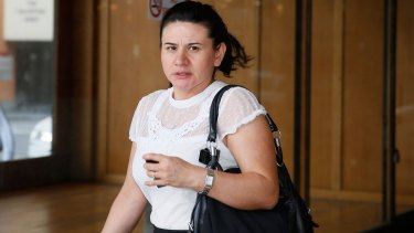 Sydney nurse Mavis Lopez at Downing Centre Local Court.