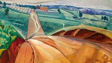Grace Cossington Smith's 'Landscape at Pentecost'.