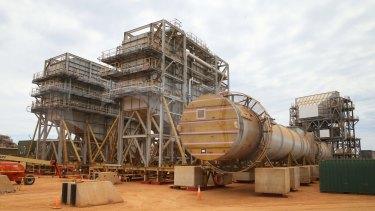 Part of the Chevron LNG project on Barrow Island, Western Australia.