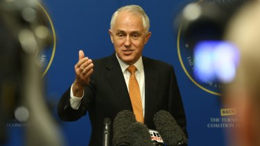 Prime Minister Malcolm Turnbull during a press conference in Randwick.