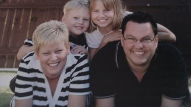 Simon and Patti Ruby with their children, Connor and Mia, when they were younger. Patti, who is a fragile X carrier, says she didn't want her children to go through what she did.