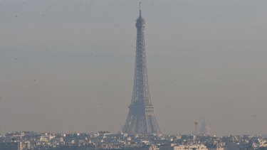 Dimmed: The City of Lights is under a blanket of smog