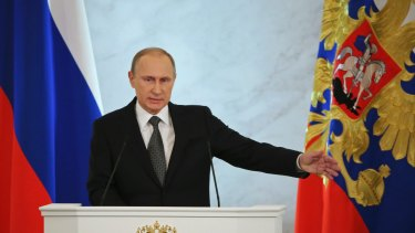 Russian President Vladimir Putin says Moscow will never give up Crimea.