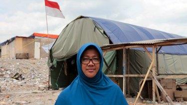 Dharma Diani, resident of Kampung Akuarium, North Jakarta, Indonesia.