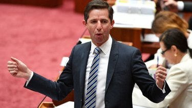 """""""Our reforms are a line in the sand for the cost-shifting and blame game"""": Simon Birmingham."""
