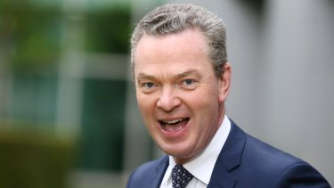 Minister for Defence Industry Christopher Pyne says his Twitter account was hacked overnight.