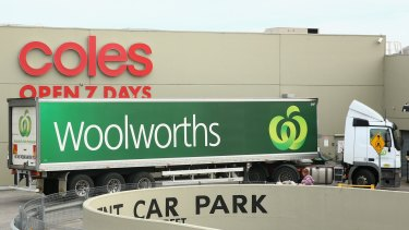 There's no suggestion that Coles is going to sit back and let Woolworths build a big lead.