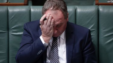 Deputy Prime Minister Barnaby Joyce in Question Time on Monday.