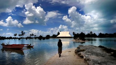 Kiribati is a low-lying coral atoll that faces real, if complex, risks of loss of land through climate change.