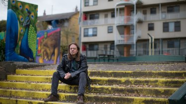 William Gwynne has lived at the Northcote public housing estate for three years.