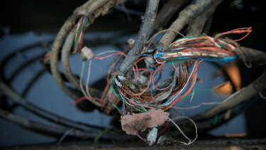 Telephone lines near Ryde Joinery, in Punchbowl, that have been out of order since April.