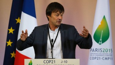Former French environmental activist and Ecology Minister Nicolas Hulot.