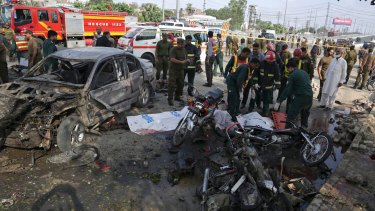 Police were believed to be the intended target of Monday's bombing in Lahore, Pakistan.