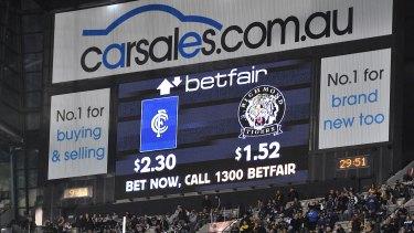 Despite a community backlash, gambling advertising continues during TV broadcasts.