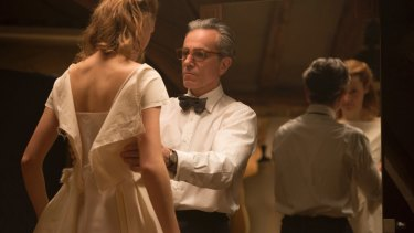 Vicky Krieps, left, and Daniel Day-Lewis in Phantom Thread.